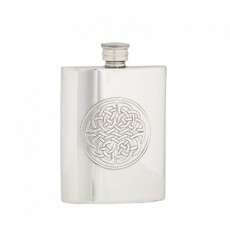 Celtic Rect Flask, 6 oz. & funnel