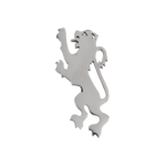 Lion Rampant Pewter Kilt Pin, Polished