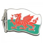 Welsh Dragon and Flag Belt Buckle