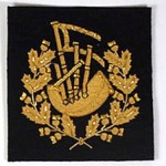 Soft Badge - Pipe Major, Gold