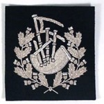 Soft Badge - Pipe Major, Silver