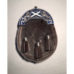 Highland Dress Saltire, Blue Enamel
